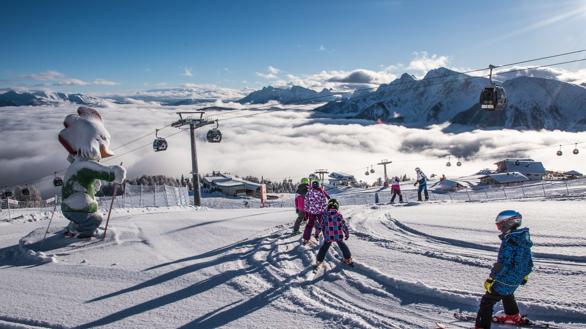 Image: Skiing at Kronplatz